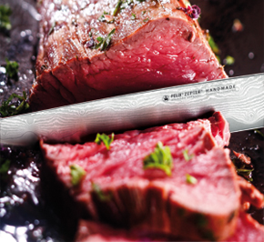 It is the only collection of knives with blades made of razor blade steel, bringing the precision and sharpness of razor blades into your kitchen.
