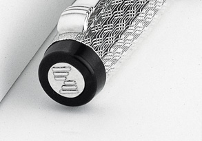 "All Philip Zepter pens are crowned by the finely etched ""Z"" logo on the very top of the cap."